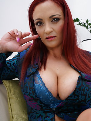 Hot naughty MILF playing with herself