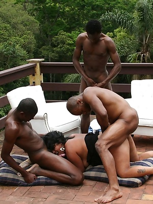 These black dudes know what to do with one horny mature slut
