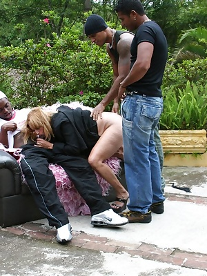 These black dudes love to bang a mature slut