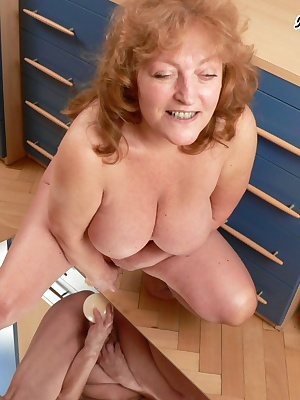 Chunky big titted mature slut fucking and sucking