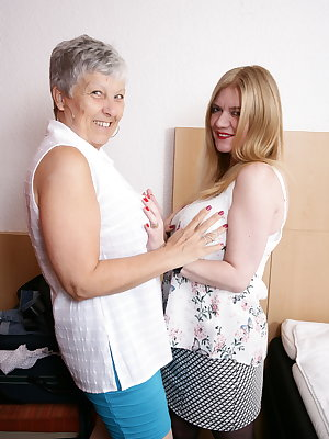 Big breasted British mature ladies go lesbian