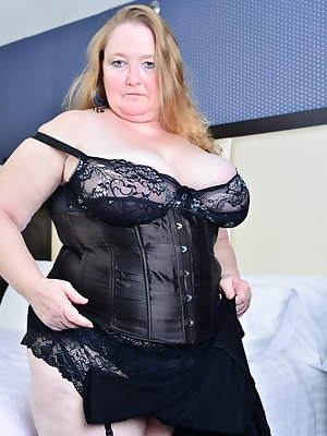 Big breated British BBW getting naughty