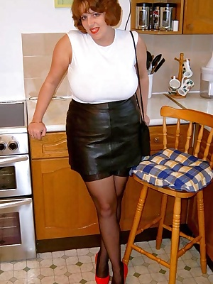 You can't beat a leather mini, although stockings maybe aren't the most discrete things to wear with it walking down the