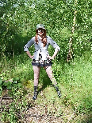 Barby try's out the new army camouflage uniform