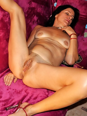 How nice to relax on the soft and fluffy purple. And of course a little bit naughty for you