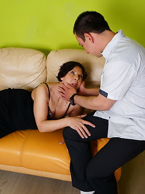 Horny mature lady getting laid by her toy boy