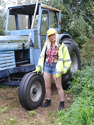Barby loves getting dirty on big diggers