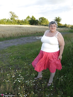 How often do you see a 78 year old BBW Granny flashing her sexy bits when you are out for an evening walk  Yes, that is