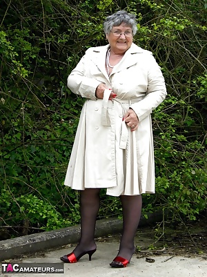 Grandma decides to go for a walk wearing her new mac, and very little else. This location was actually very near the M4