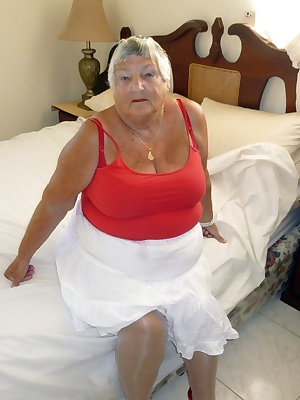 Grandmas favourite colours are red and white so here I team up my sexy red bra and panties and red high heel shoes with