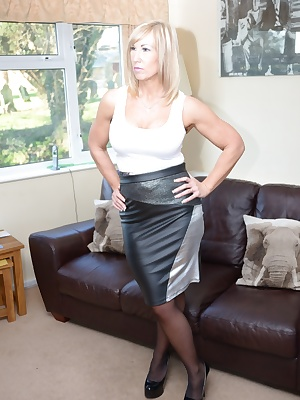 I found this bargain leather skirt in a local shop.  I love it Melody x