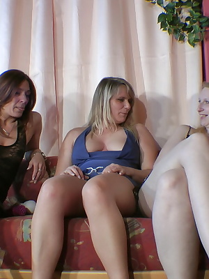 3 horny pussies do it to each other with the vibrator