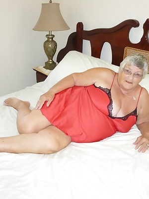 Grandma  getting horny again  As I lie on my bed wearing a sexy red silk nightie I get the urge to fuck  but there is no