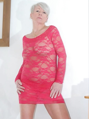 Pictures of me stripping out of my red see through dress while wearing nothing but my red panties. Then removing my red