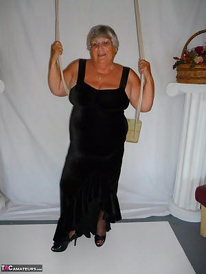 Just look at Granny all dressed up in this lovely evening dress which was made for me by one of my ardent fans  yes a bi