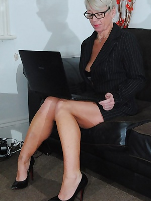 First part of my naughty Secretary shoot lots of up my skirt shots showing of my panties, also lots of down my top shots