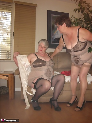 Two Sexy mamas in open bottom all in one rago girdles, here to pleasure you with our sexy stuff...xxx