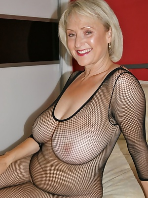 A crutch less body stocking a sex toy and a bed, what more could I ask for except a few cocks to be on hand.Those tits o