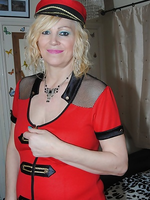 Dressed in my red soldier outfit lots of up the skirt pictures showing my red panties. Also lots of pictures showin my D