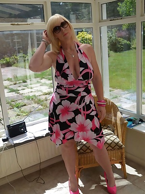So hot outside, I thought I'd come inside and remove my lovely dress. Melody x