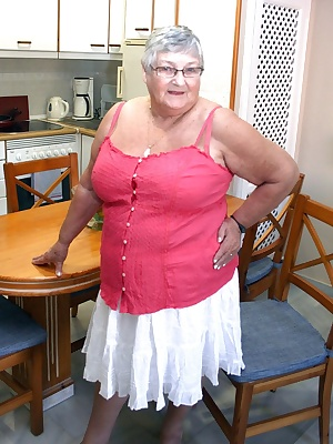 A pretty new summer top teamed up with sexy red lingerie.  Once again on holiday in Spain your fat old grandma has  time