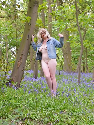 Barbie loves bluebells and being naked amongst them makes her so wet