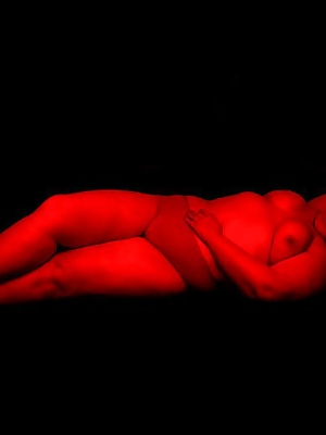 I did a shoot in a dark room with only red light.  It was a real turn on.   The mood was hot and sexy.  I loved it.  I g