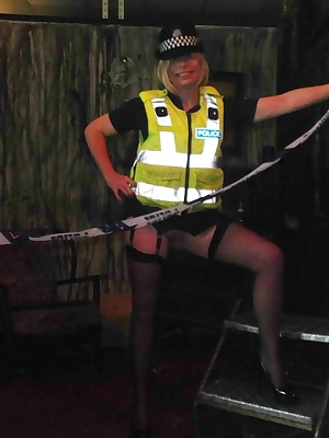 Barby loves dressing up and policewoman is a great favourite...she loves the big hard baton.