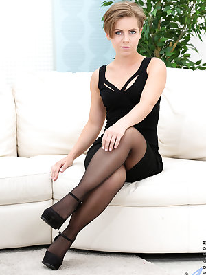 Short Ukrainian mom Sasha Zima is a sight to behold as this saucy milf starts to strip down. As soon as her small boobs and bare twat have been revealed, she wastes no time having a little bit of anal play and then preparing to masturbate her cock hungry