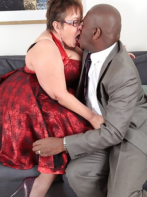 After a night out honey came home with a hunky black guy with a big meaty bone which she could not resist to let go. Cum
