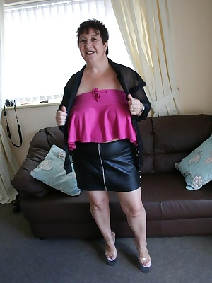 Black see thru top leather mini with one of my very shy friends lol xxx
