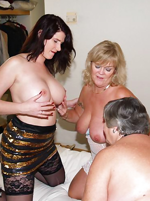 Three luscious ladies for you to feat your eyes on.  Nothing like a sexy threesome to get Granny going.  Fingering and s