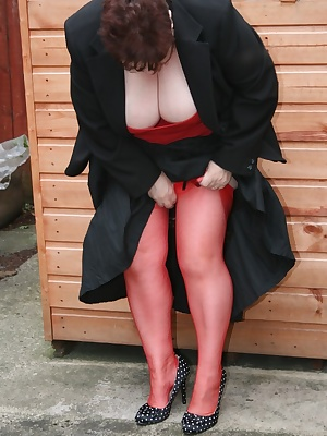 Sexy in red and black