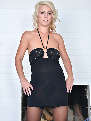 Decked out in a short miniskirt that lets us enjoy her perky ass and thong, 33 year old Luci Angel shows off all her assets. Once she starts peeling off her clothes, her magic fingers roam her delectable body to tease herself into a sexual frenzy that onl