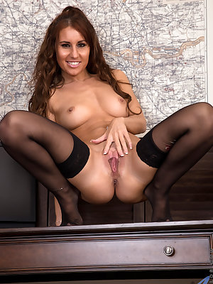 Horny housewife Jess West is short, sweet, and looks good enough to eat. This lusty mom has a set of all natural titties that you're going to want to squeeze and suckle, and when you get a glimpse of her landing strip fuck hole that is filled with pussy j