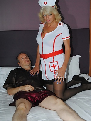 Naughty nurse Di has a patient who can not get a hard on. Watch how she cures and fucks him.