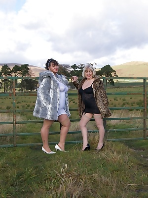 Hi Guys, Heres a few Pics of Me and my Friend Busty Kim Of Kims Amateurs Fame, flashing in The Scottish Border Country l