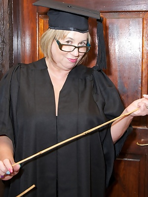 Hi Guys, Schools Out , but your Naughty Headmistress is here to play, I just love to Strip off in my Study and play with