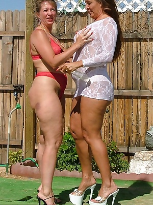 Oiling up with Candi outside on a great sunny day can heat things up a degree or two. Watch as we struggle to hold on An
