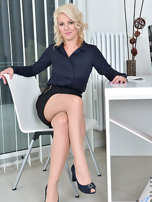 Lusty blonde Luci Angel is a certified milf who wants to show you her hanging tits and juicy fuck hole. Once this Czech businesswoman has peeled off her office clothes, she won't stop until her juicy bare fuck hole has been seduced into a pulsing orgasm t