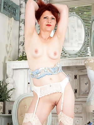 Horny grandma Cee Cee is loving every moment of getting older. This 47 year old is as horny as ever, and loves to flaunt her medium boobs and bare twat with sheer bras and panties that are easily slipped out of whenever she has a spare moment to get herse