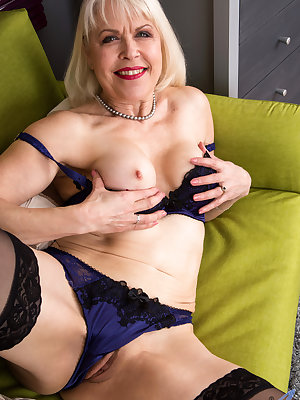 Lusty grandma Margaret Holt is 64 and still up for a good time. This cock craving gilf has kept herself in stunning shape, making it a treat to admire her tight ass and big boobs. Enjoy the show as she peels off her clothes and spreads her thighs so you c