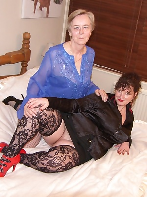 I meet granny Sally Ann for some naughty girl-girl fun, watch us play with our toys  strap-onstwo real grannys getting d