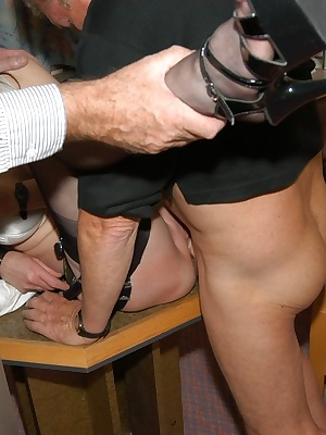 I never knew a hotel maid's life was like this - serve guys coffee, then get put across the table and have big cocks stu