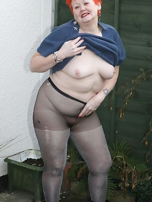 I got all hot and wet so had to lose the pantyhose  Some naughty pics in this set.