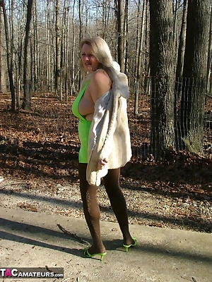 A faux fur over a tight green dress that barely covered my assets - with the coat off and the top untied my beautiful bo