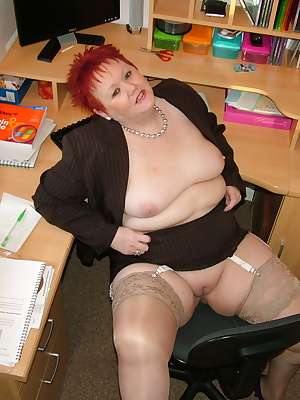 In my fave sexy suit and silky stockings showing you round my office and my pussy.