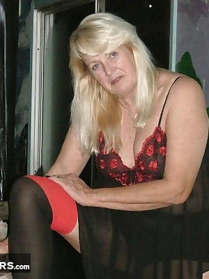 Let's swing - it's naughty nighty nite - and my black and red nighty and black and red stockings were the hit of the nit
