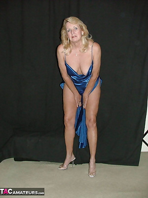 How would you like to be met at the door by a lady in a brilliant blue negligee  Does the thought make you as hot as it