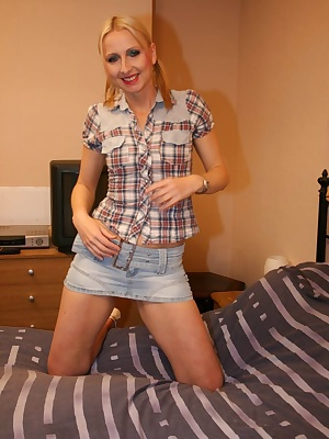 I was all ready to do some jobs round the house in my little denim skirt and check shirt.Then alonmg comes Fred with a h